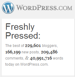 Wordpress Logo and Stats